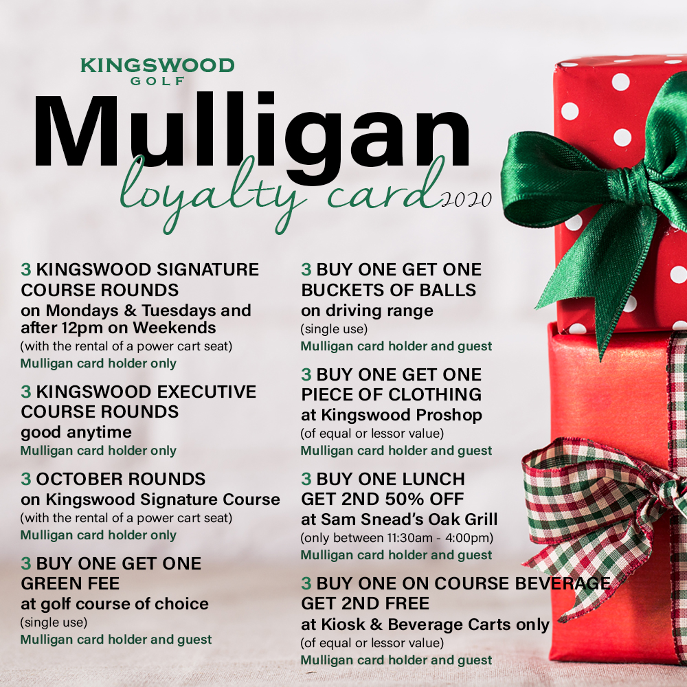 2020 Mulligan Loyalty Club Card