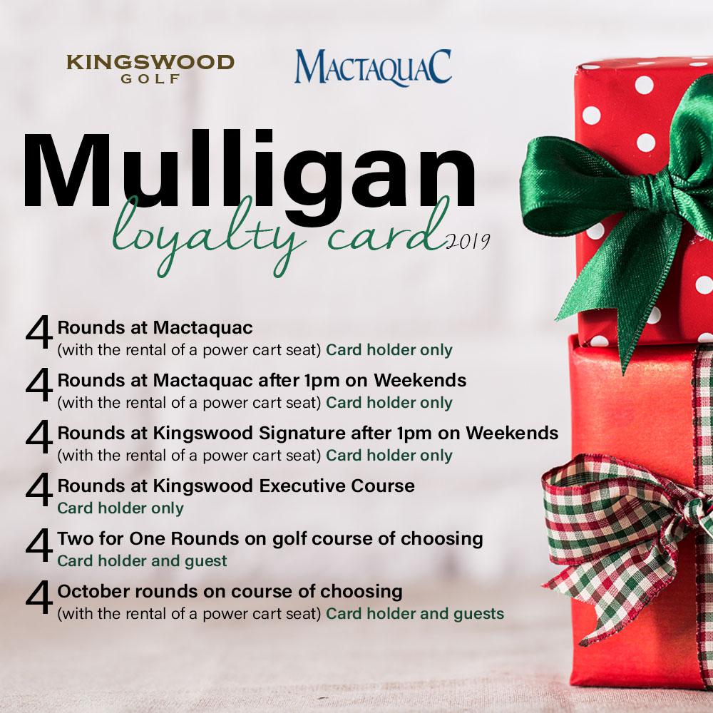 2019 Mulligan Loyalty Card